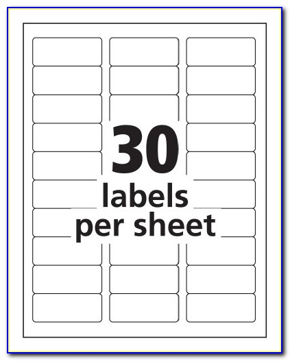 Avery Clear Labels Template 5 Tab