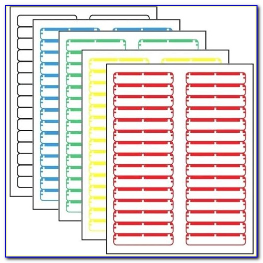 Avery File Folder Label Template 5215