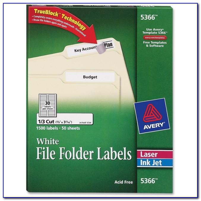 Avery File Folder Label Template 8593