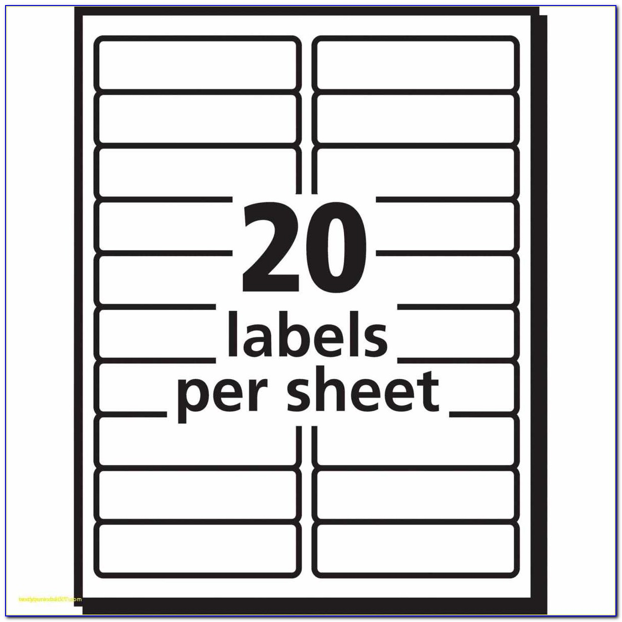 Avery File Labels 30 Per Sheet Template