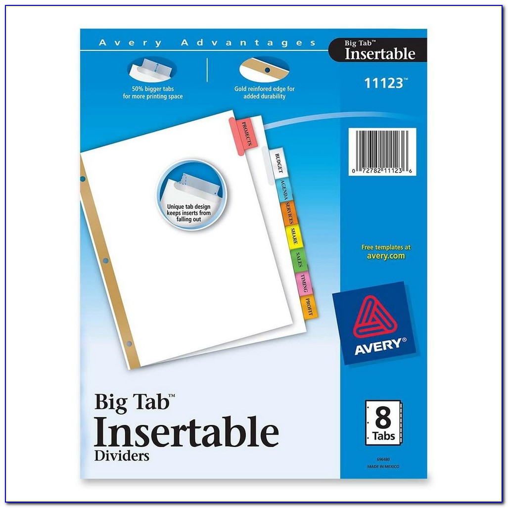 Avery File Tab Inserts Template