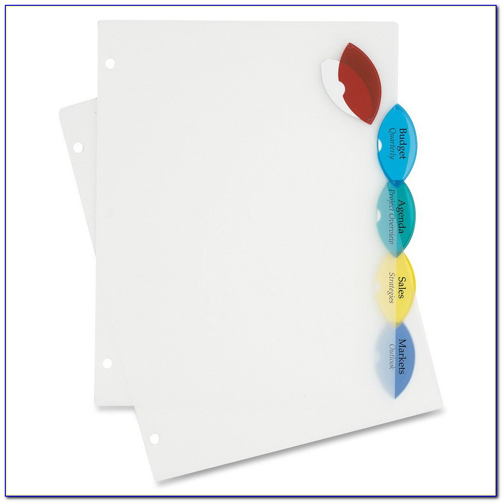 Avery Worksaver 8 Tab Inserts Template