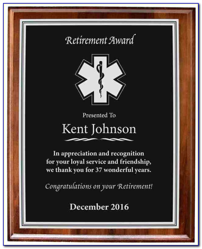 Award Plaque Template Free