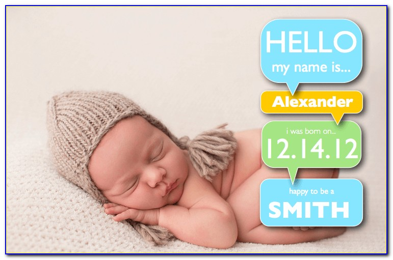 Baby Boy Announcement Template Word
