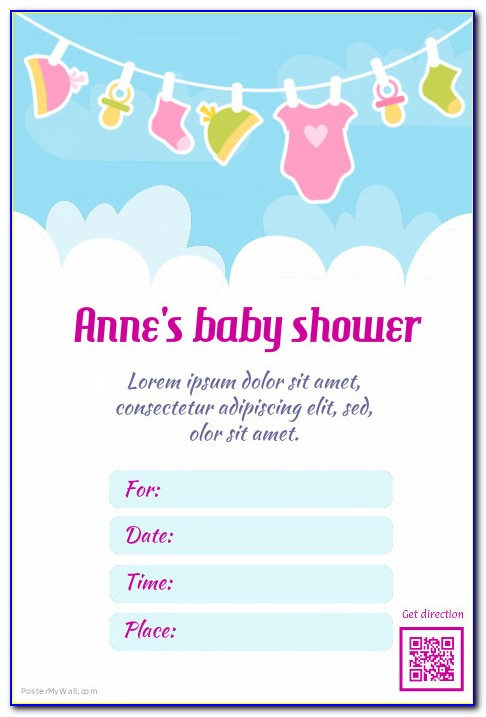 Baby Boy Shower Poster Template