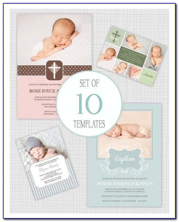 Baby Christening Invitation Maker