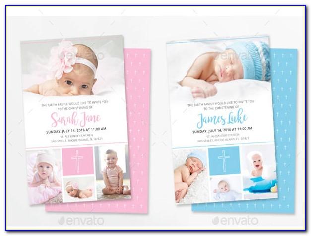 Baby Christening Invitation Templates
