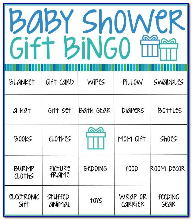 Baby Shower Bingo Card Generator