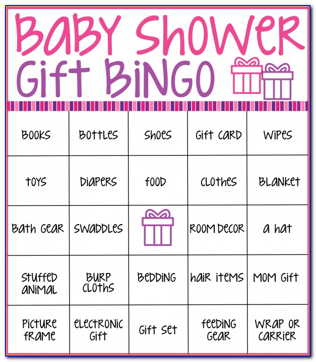 Baby Shower Bingo Cards Template Free
