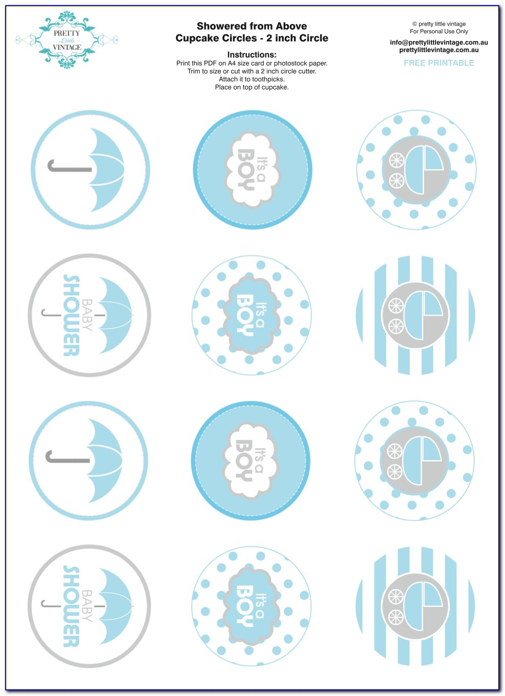 Baby Shower Labels Template