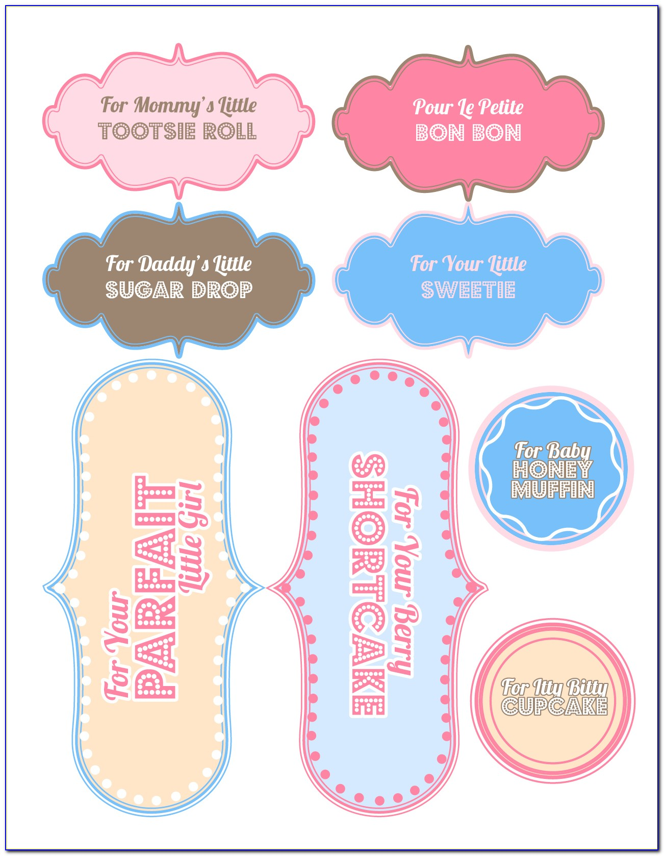 Baby Shower Wine Bottle Labels Template