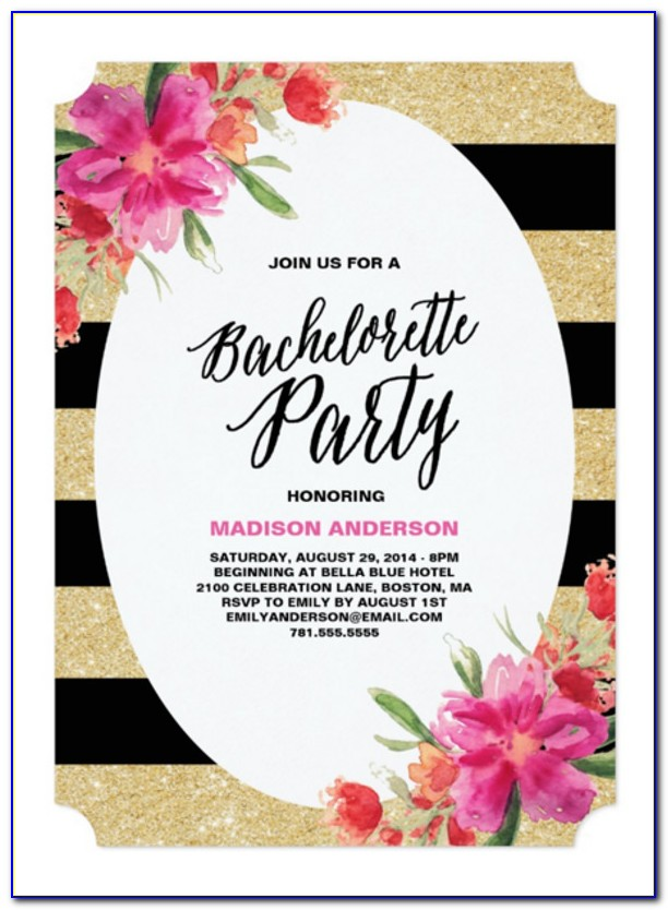 Bachelorette Party Invite Templates Free
