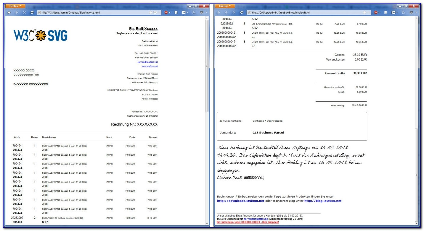 Php Performance And Memory Usage Create Pdf Invoices With Html5 Create Pdf Invoice