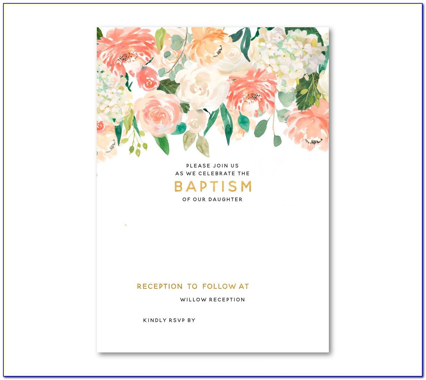 Baptism Invitation Templates Download