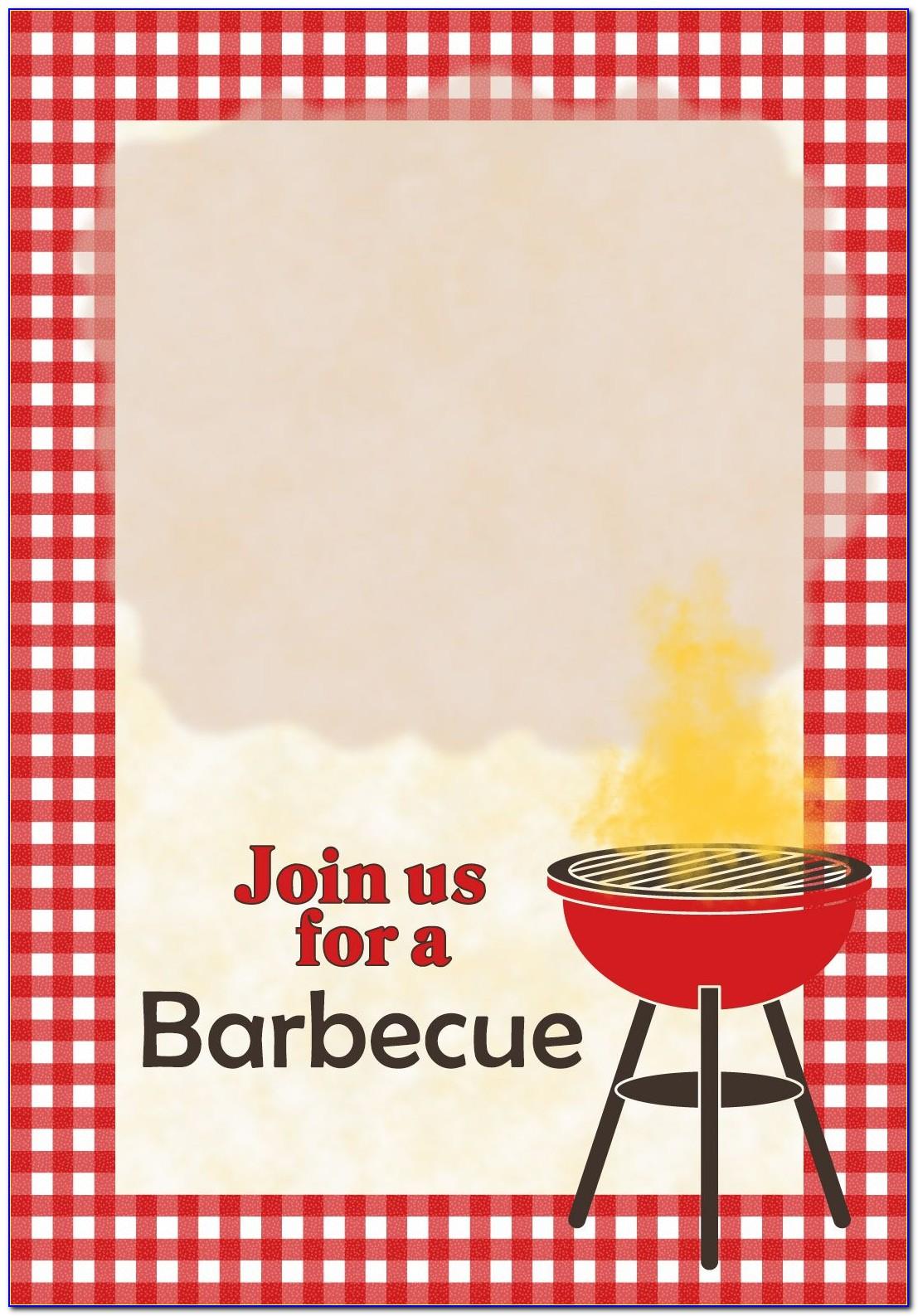 Barbecue Invite Template