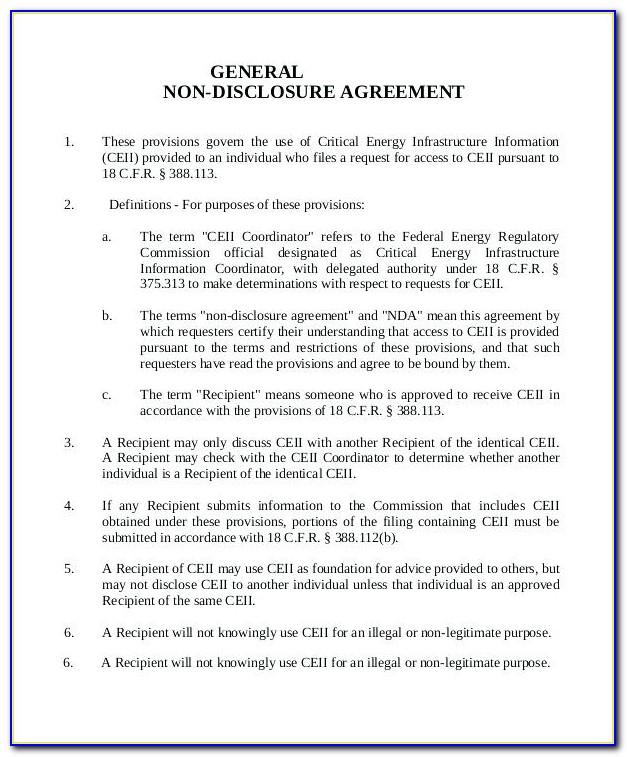 Basic Nda Agreement Template