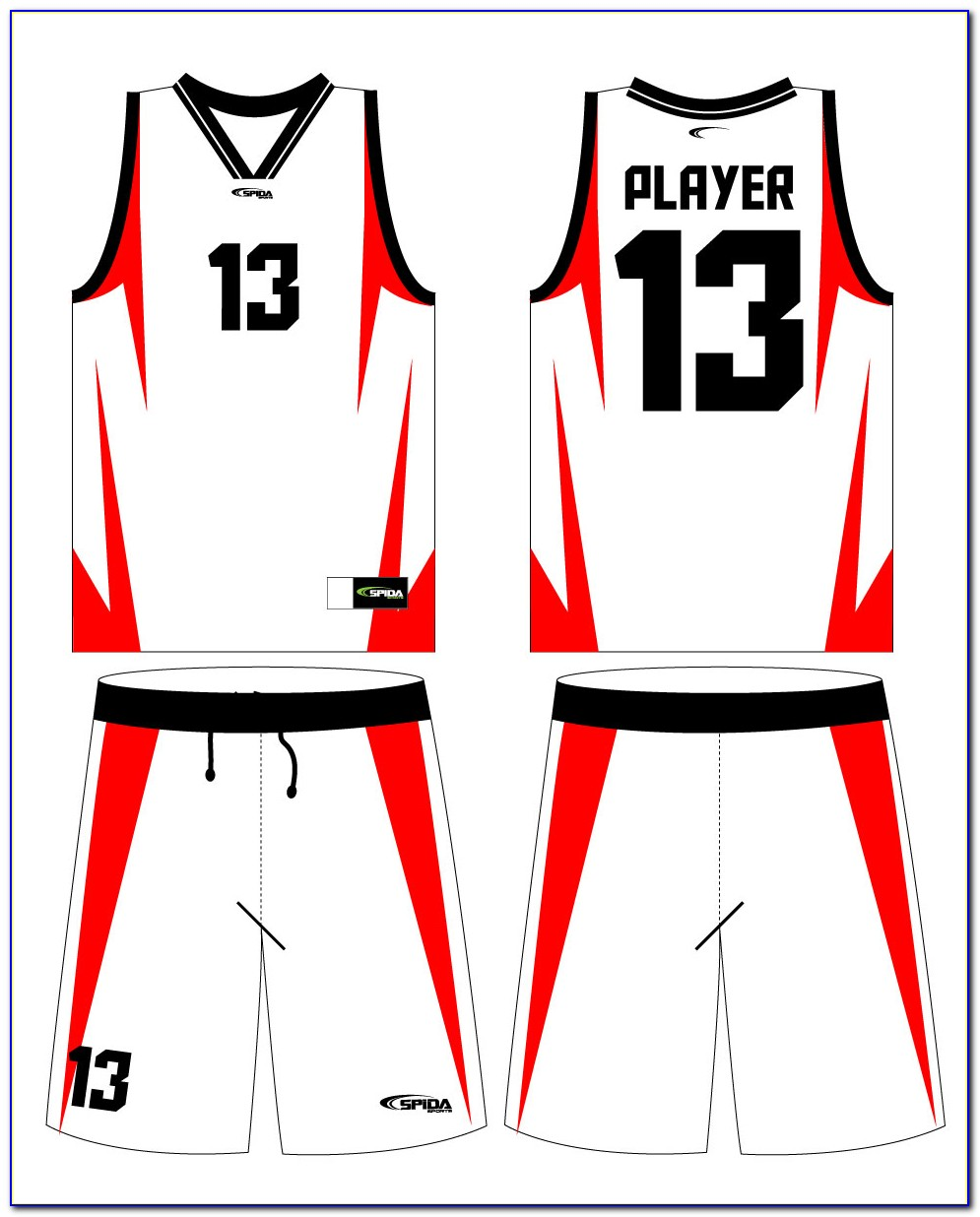 Basketball Jersey Sublimation Design Template
