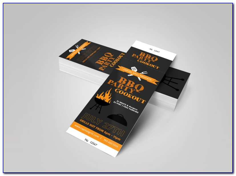 Bbq Ticket Template Word