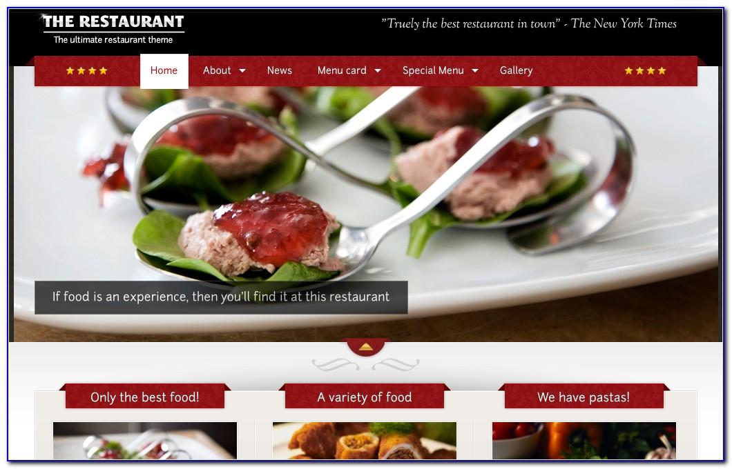 Best Free Restaurant Wordpress Templates