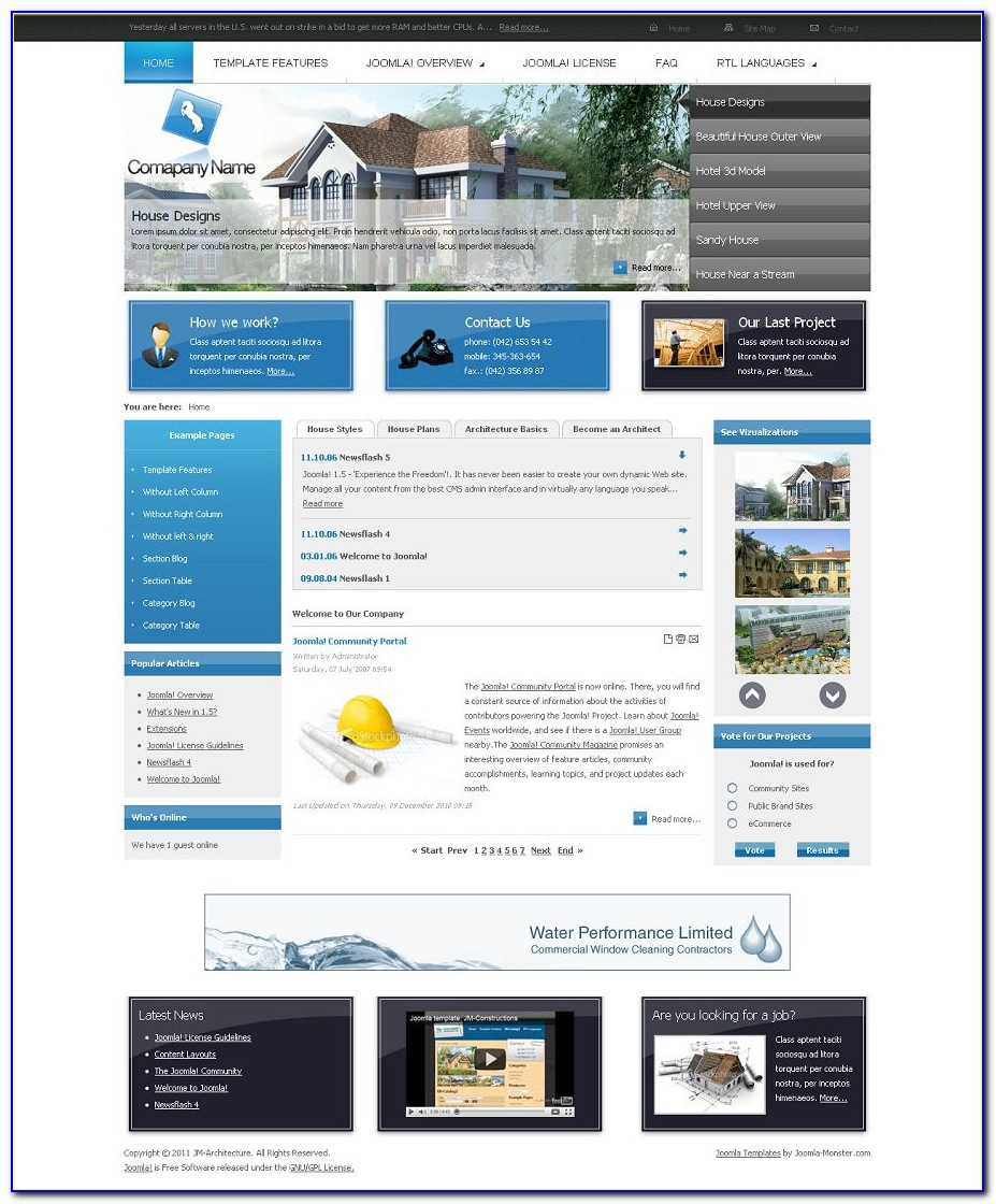 Best Joomla Real Estate Template