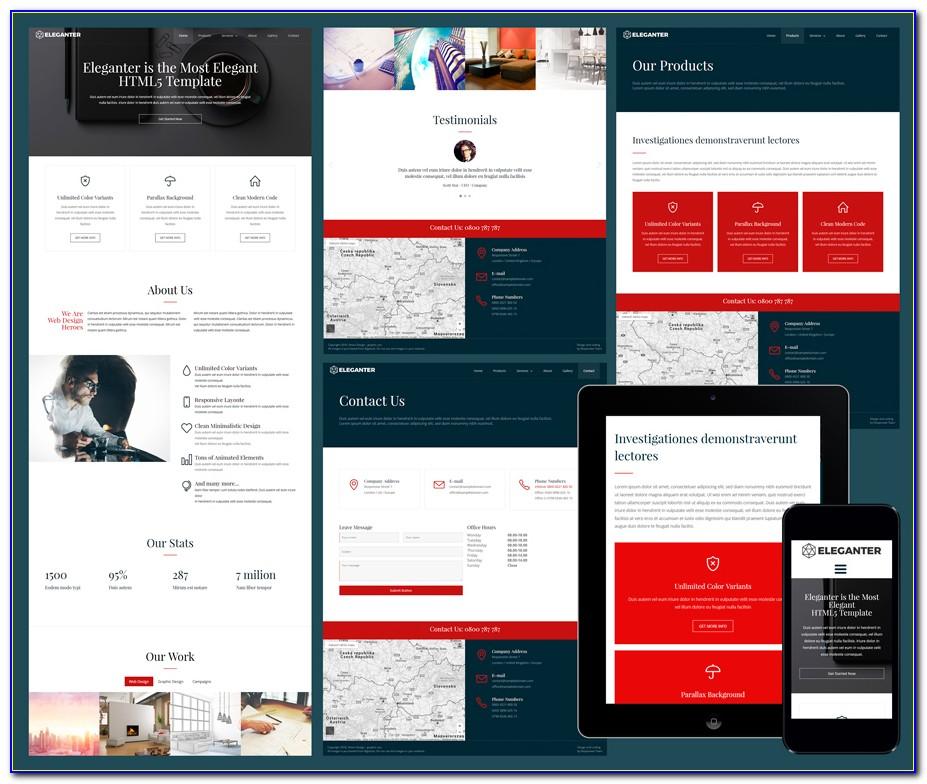 Best Responsive Web Templates 2018