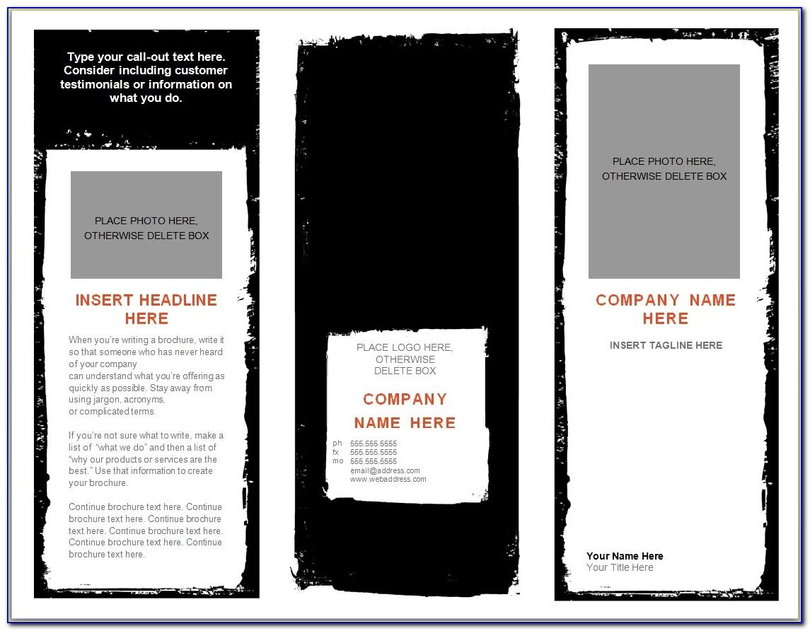 Bi Fold Brochure Template Psd