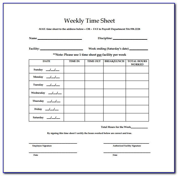Bi Weekly Timesheet Template Free Download