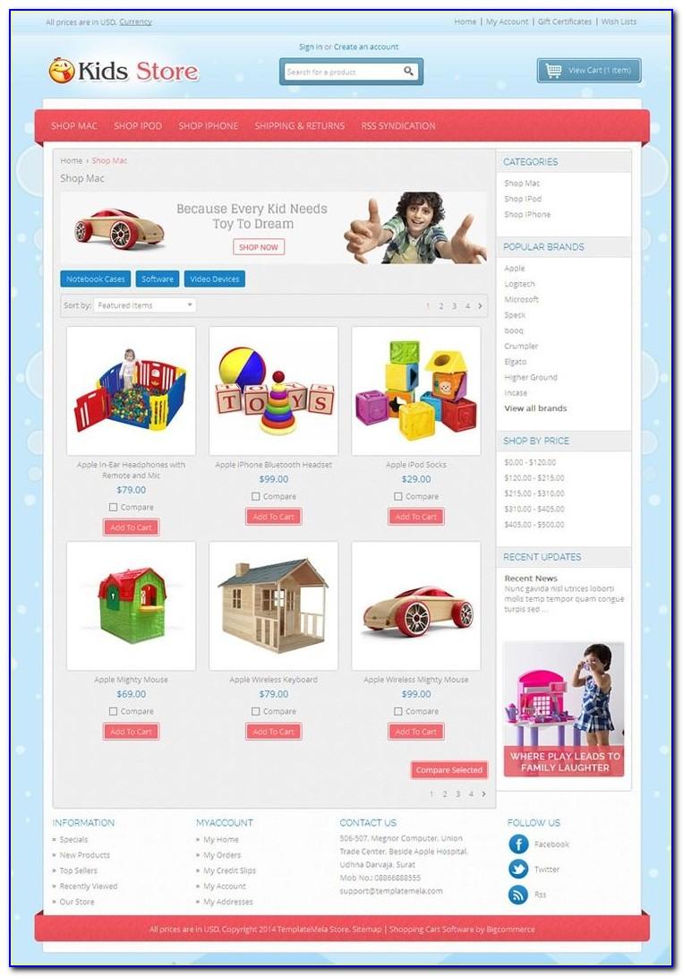 Bigcommerce Custom Template File