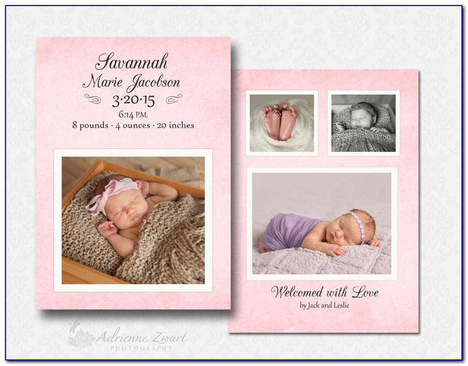 Birth Announcement Template Psd