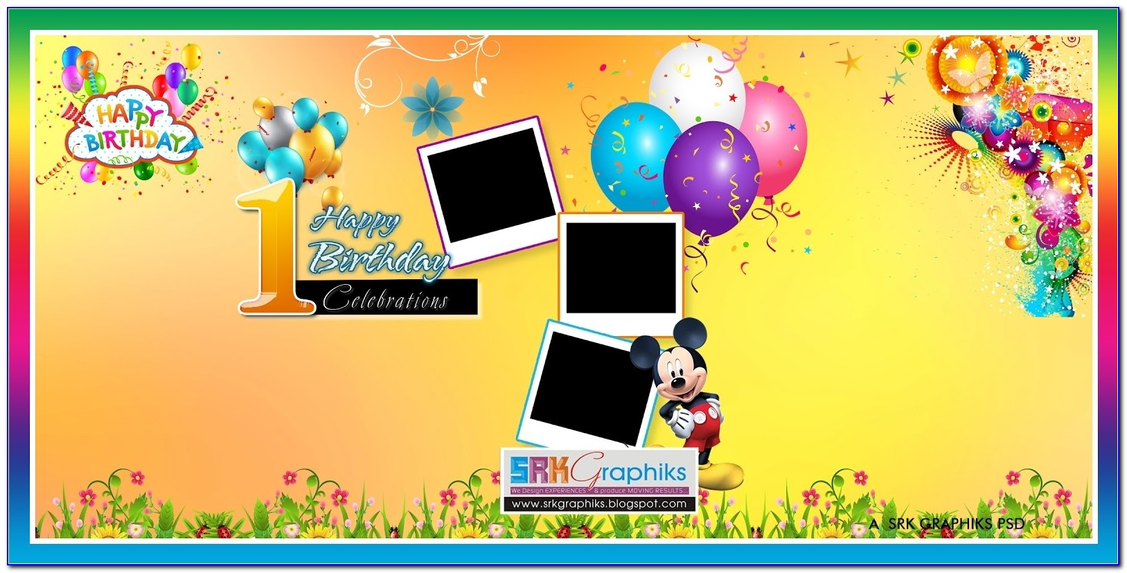 Creative Birthday Flex Banner Psd Template Free Downloads Srk Pertaining To Birthday Banner Design Templates