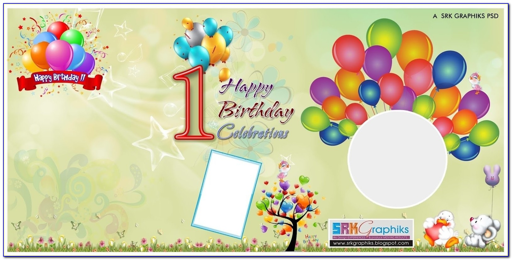 Birthday Banner Design Photoshop Template For Free Srk Graphics With Birthday Flex Banner Background Design