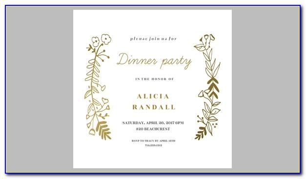 Birthday Dinner Invitation Wording Samples