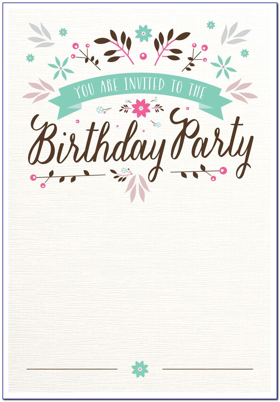Birthday Invitations Templates With Photo