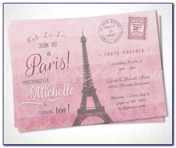 Birthday Party Invitation Postcard Template