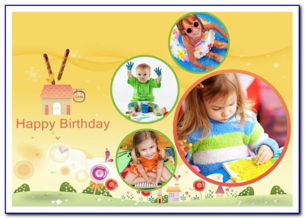 Birthday Photo Collage Template Psd