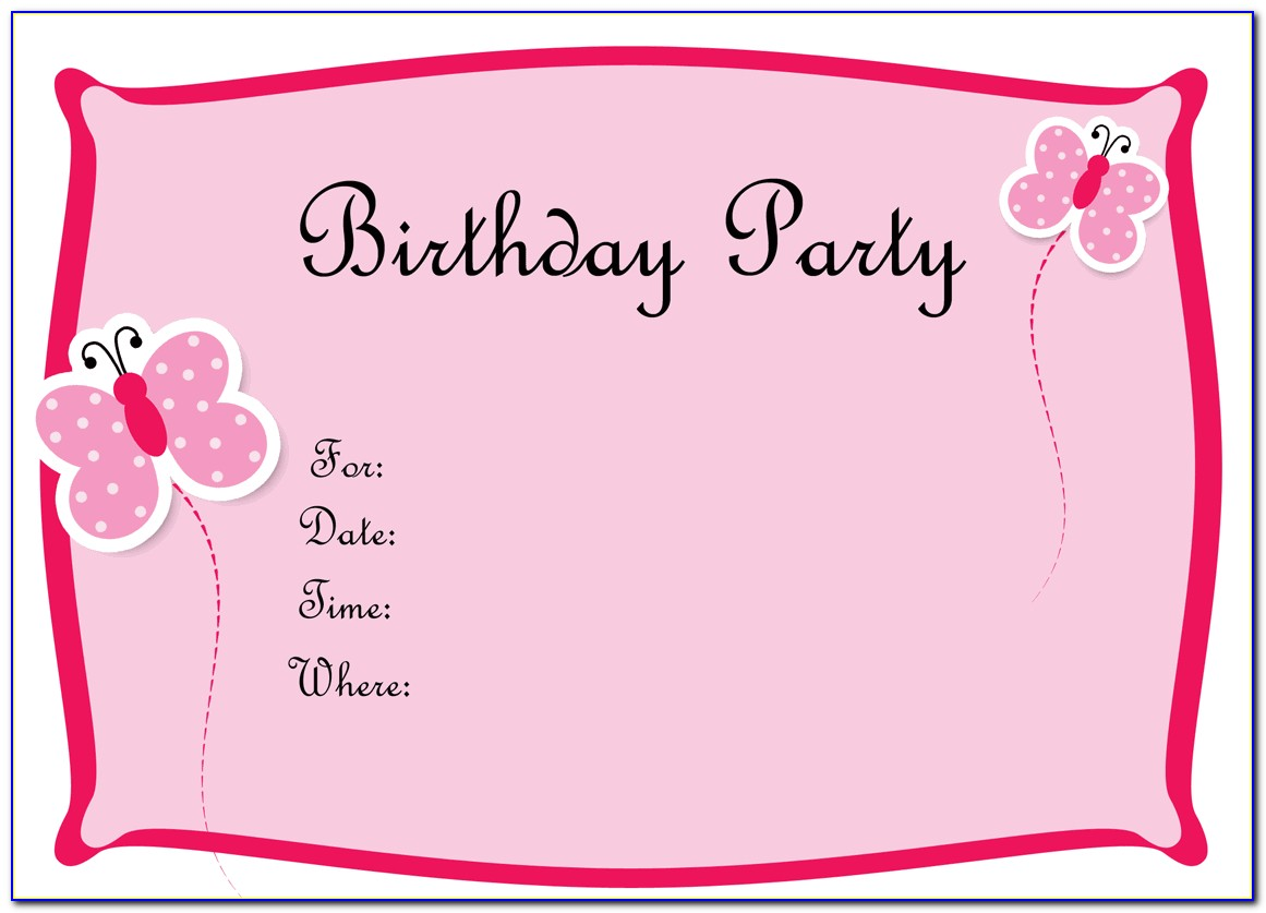 Birthday Templates Invitation