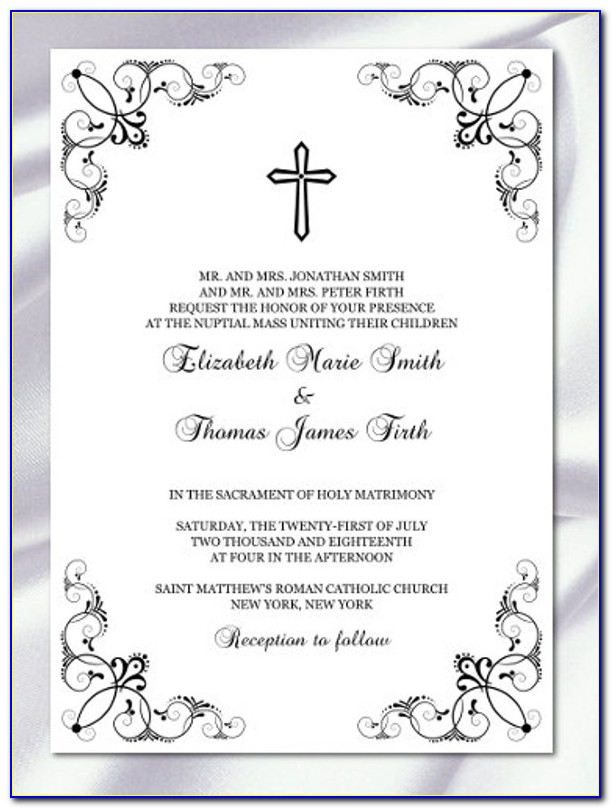 Blank Confirmation Invitation Template