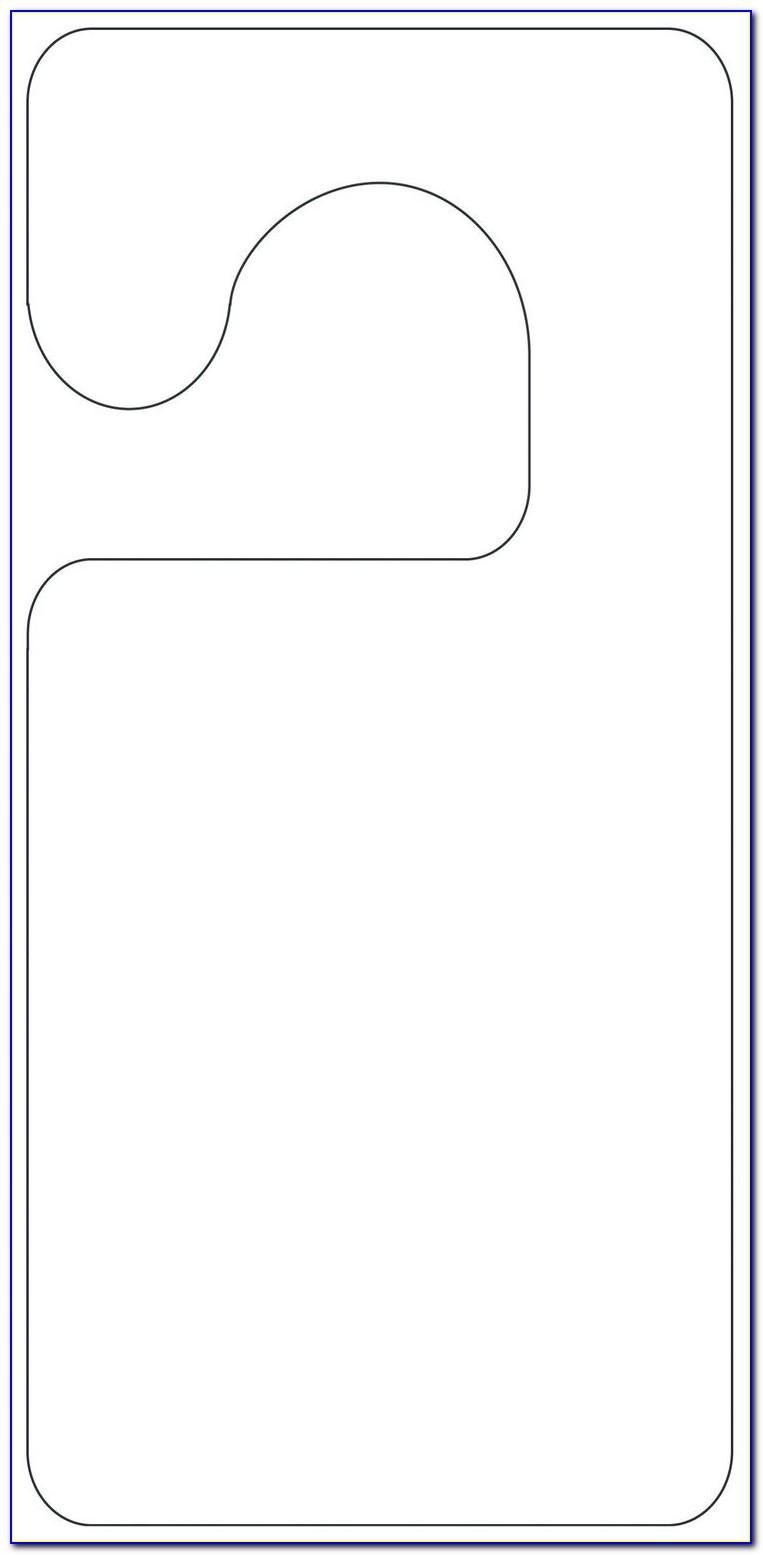 Blank Door Hanger Template Printable
