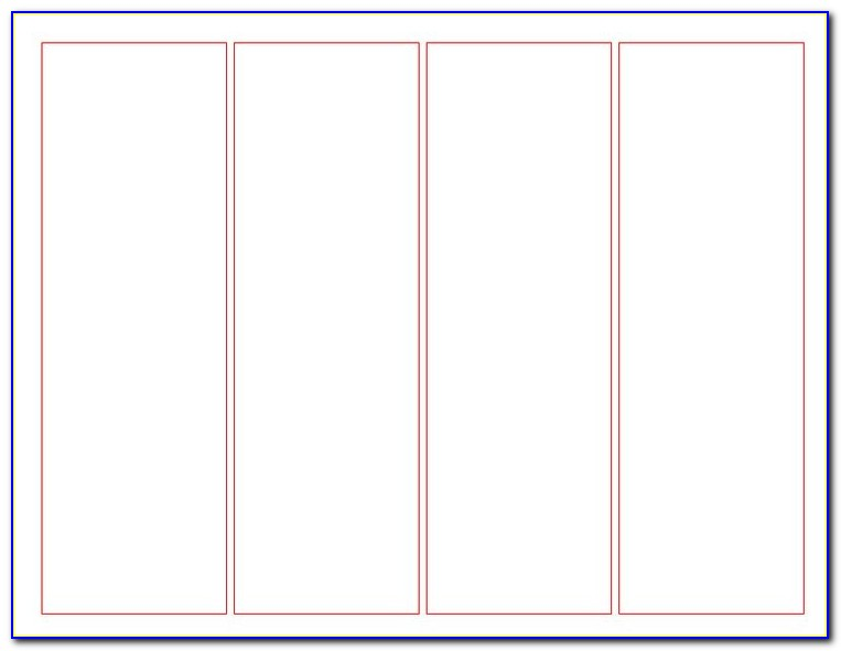 Bookmark Printing Template