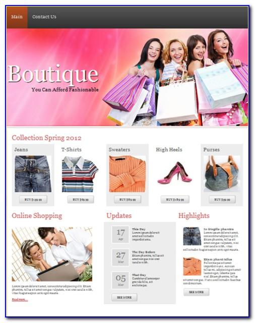 Boutique Website Templates Free