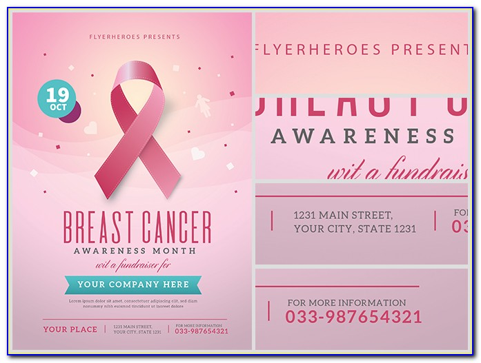 Breast Cancer Awareness Month Flyer Templates Free