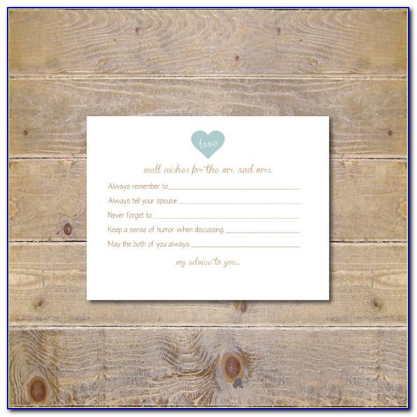 Bridal Shower Advice Cards Free Printable