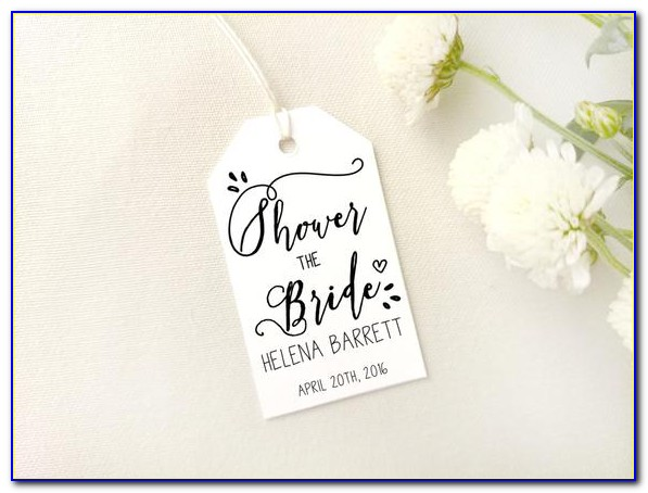 Bridal Shower Favor Tags Template Free