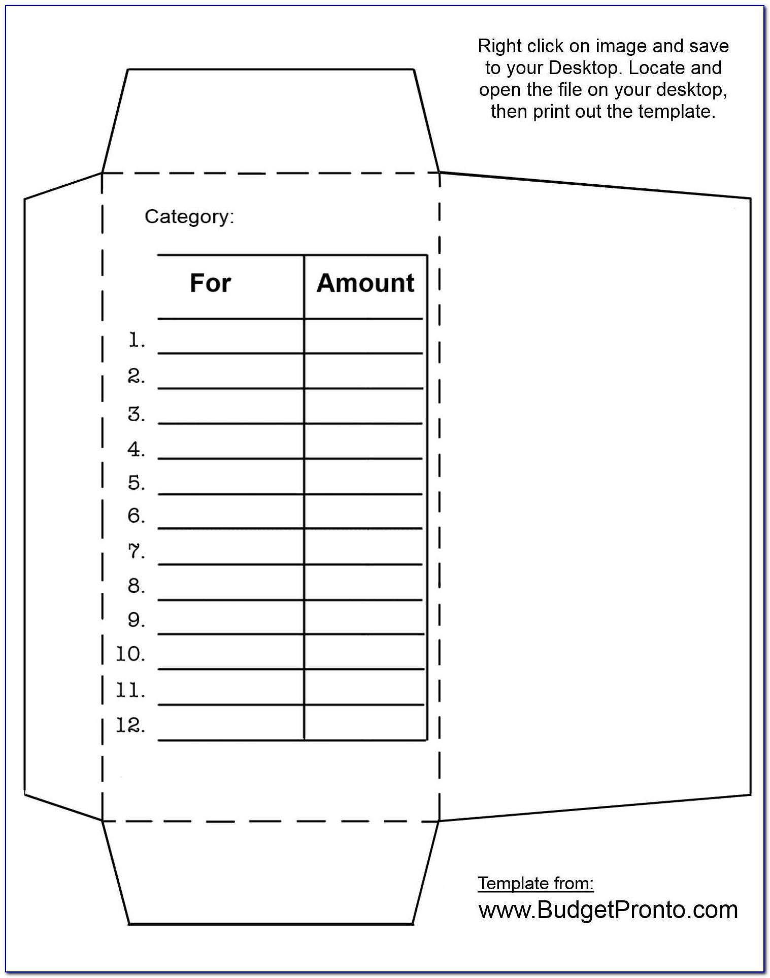 Budget Envelopes Printable