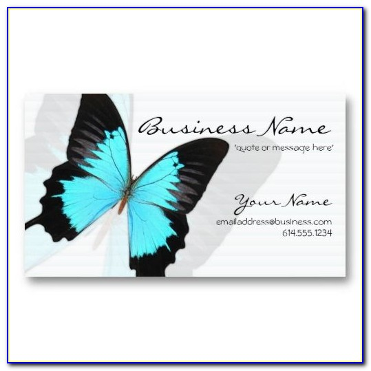 Business Card Butterfly Design Templates Free