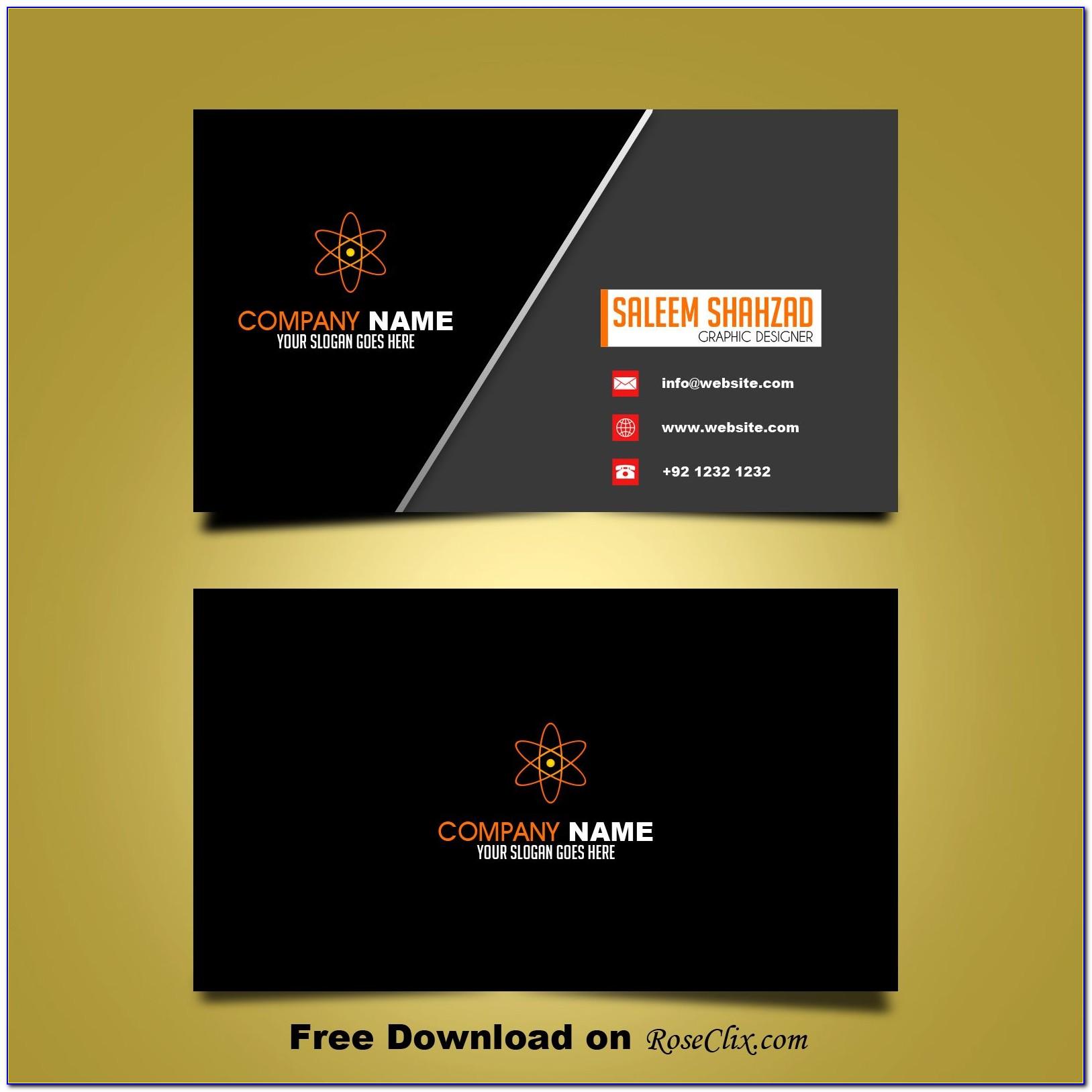 Business Card Design Cdr Format Free Download