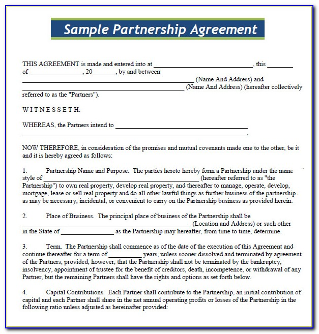 Business Contract Templates Free