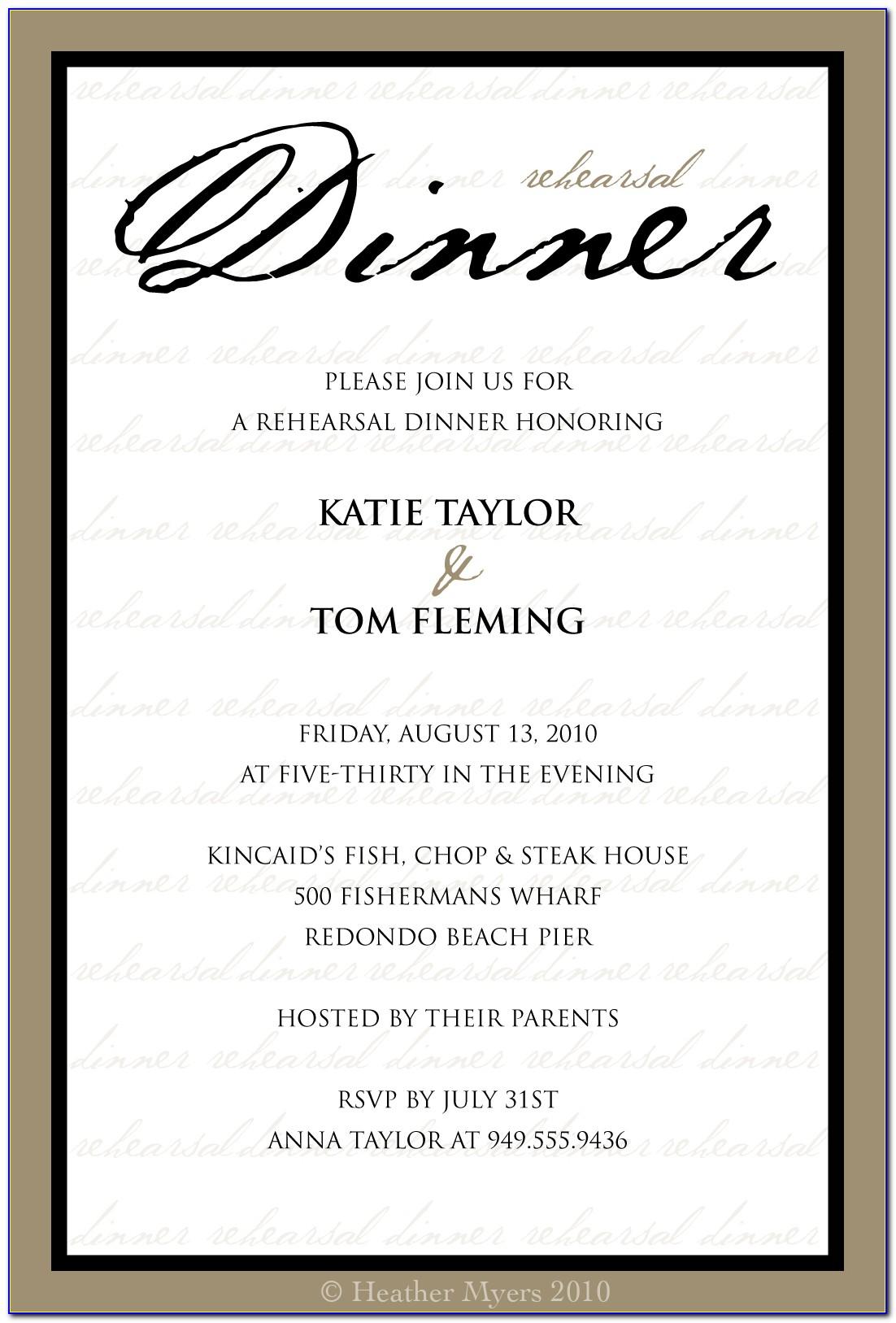 Business Dinner Invitation Template Free