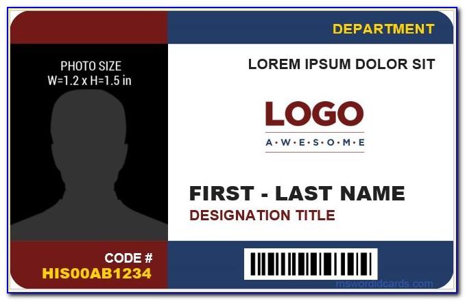 Business Id Card Template Illustrator
