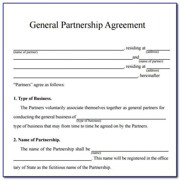 Business Partnership Agreement Template Free Nz